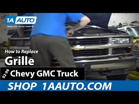 How To Install Replace Grille 92-98 Chevy Silverado GMC Sierra Suburban Tahoe Yu