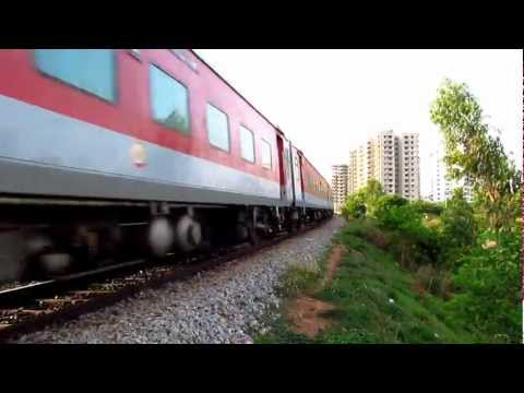 Bangalore LHB Rajdhani Express at 100kmph...