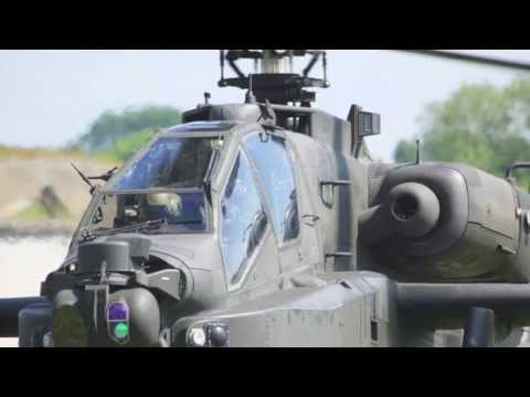 'Apache Royale' - Prince Harry crews the Apache Helicopter at Cosford Airshow 2013