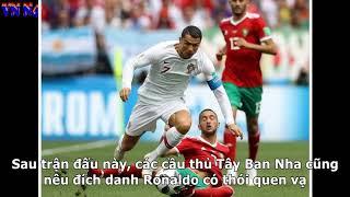 Bồ Đào Nha hạ Morocco 1-0: Ronaldo ăn vạ đến mức... 'đứt dây xấu hổ'!