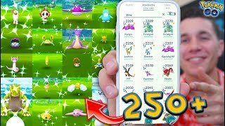 SHOWING MY FULL 250+ SHINY POKÉMON COLLECTION in Pokémon GO!