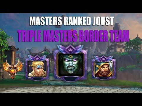 Smite: MASTERS BORDER TEAM: Masters Ranked Joust: Cabrakan