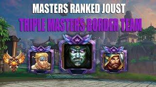 Smite: MASTERS BORDER TEAM: Masters Ranked Joust: Cabrakan