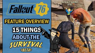 Fallout 76 – Feature Overview – 15 Essential Things You Need to Know About the SURVIVAL MODE BETA