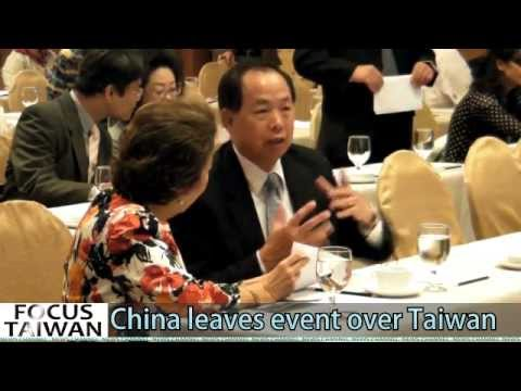 China storms out of meeting over Taiwan