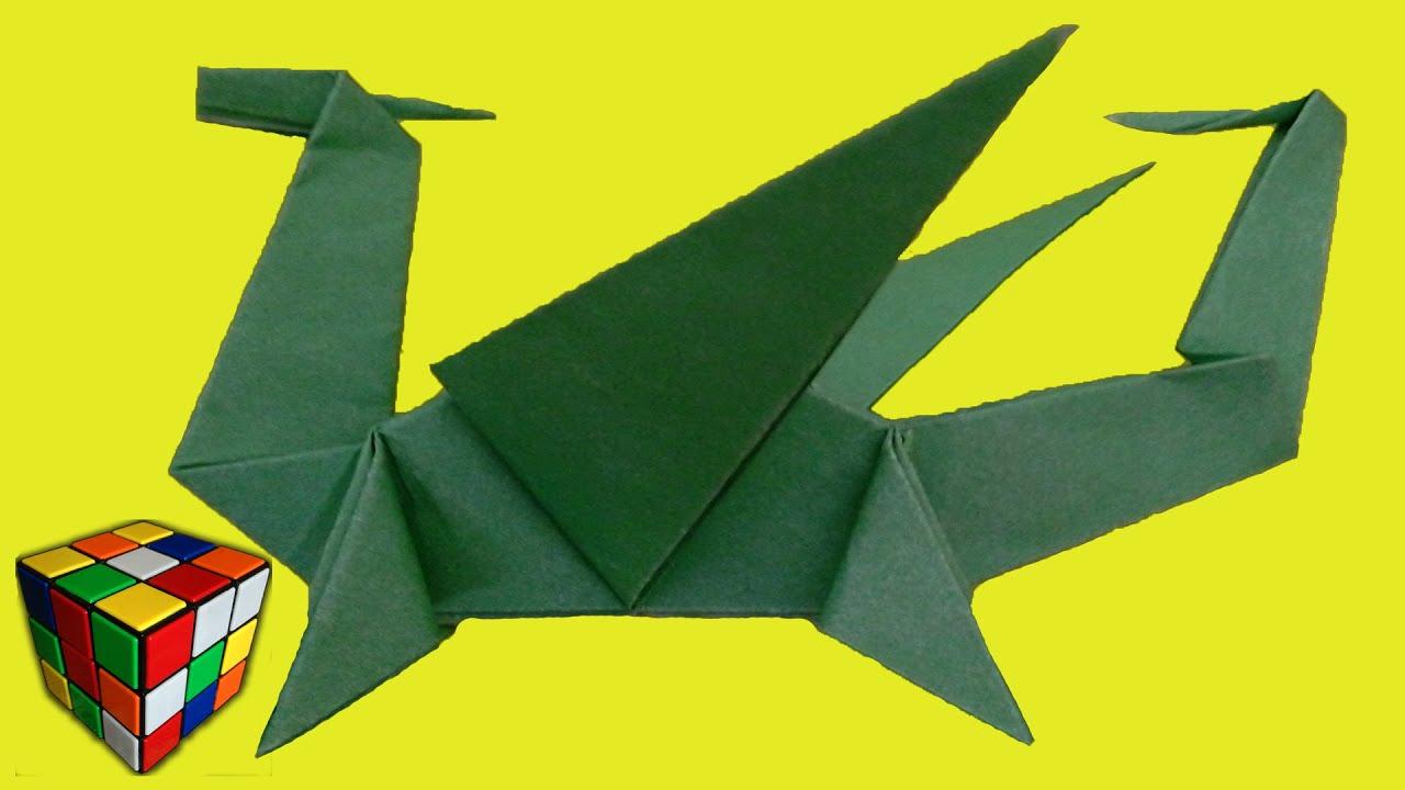 Дракон из бумаги своими руками из бумаги