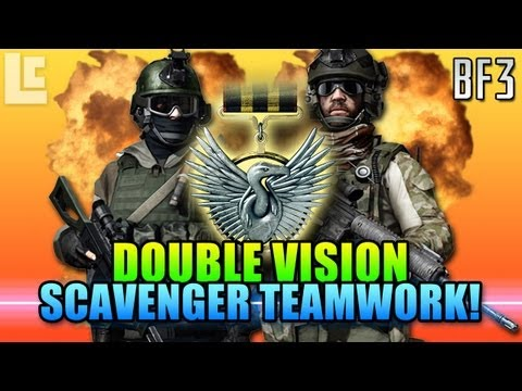 Double Vision - Scavenger Teamplay. Does It Help? (Battlefield 3 Gameplay/Commentary)