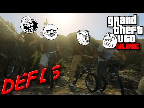 GTA V   DÉFIS DE FOLIE   Descente Hard du Mont Chiliad en BMX !