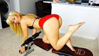 Download Girl with Super Sexy Big Booty Working Out at Home!! 3Gp Mp4