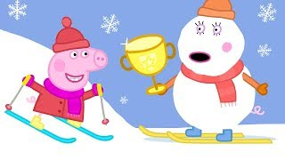 Peppa Pig Full Episodes - Sun, Sea and Snow - Cartoons for Children