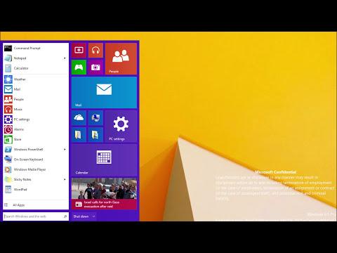 Windows 9 Start Menu with Tiles Leaks