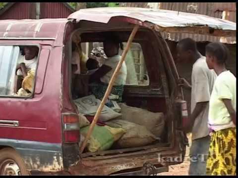 crowded bus Liberia