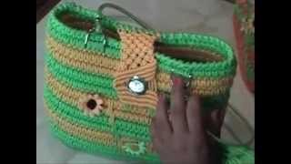 cartera playera 1 - crochet macrame