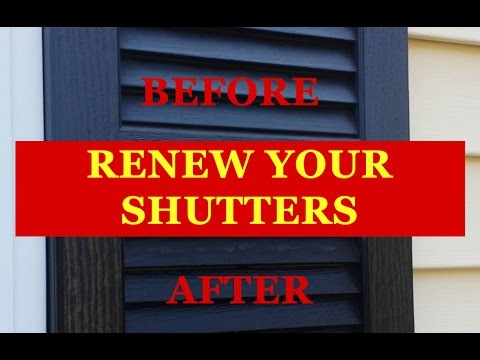 Old Faded Vinyl Shutters Dont Waste Time And Money Painting Clean Them With Tire Foam How To