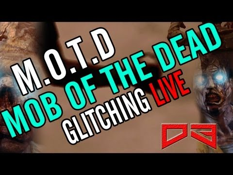 Black Ops 2: Mob Of The Dead GLITCHING & Modding Live! PS3 (MOTD) Uprising DLC