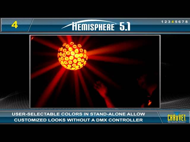 Chauvet Hemisphere 5.1 Multi-Colored Centerpiece Effect Light