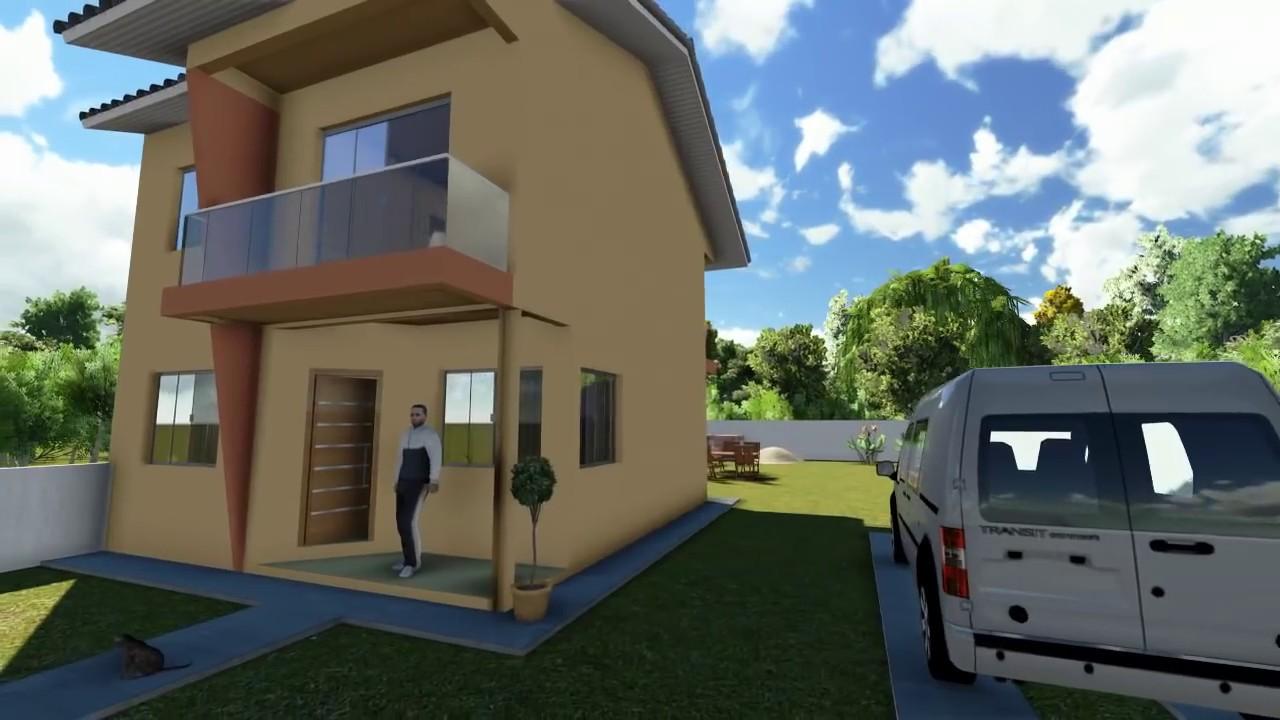 Projetos de casas modelo de uma casa pequena youtube for Modelos de frentes de casas