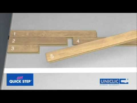 Monta paneli pod ogowych quick step system uniclick youtube - Pose quick step uniclic ...