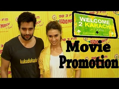 "Jackky Bhagnani & Lauren Dance @ Radio Mirchi 98.3 FM : ""Welcome To Karachi"" Movie Promotion"