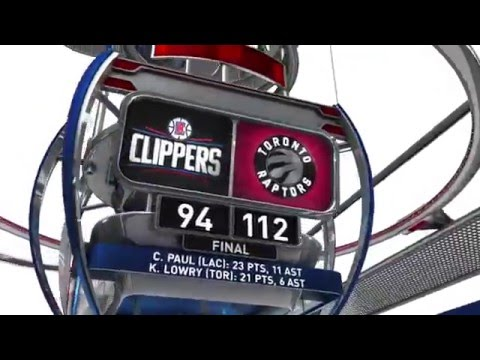Los Angeles Clippers vs Toronto Raptors - January 24, 2016