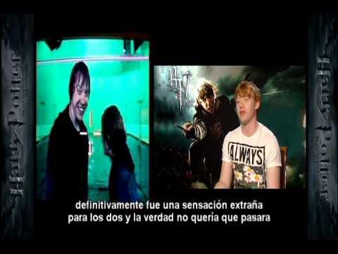 Rupert Grint (Ron) habla sobre el beso con Emma Watson (Hermione) en última peli de Harry Potter