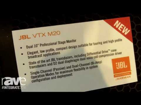 Integrate 2016: JBL Showcases VTX-M20 and VTX-M22 Professional Stage Monitors on the Jands Stand