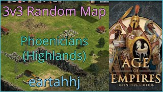 Age of Empires: Definitive Edition - 3v3 RM Phoenicians Highlands - eartahhj - 25/06/2019
