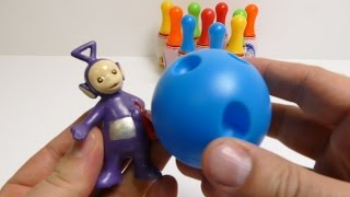 Teletubbies play with Finger Bowling Toy from Hong Kong