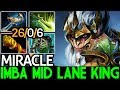 Miracle- [Monkey King] Imba Mid Lane King 26 Kills 7.21 Dota 2