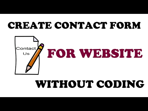 Easy contact us form for website without coding Hindi tutorial