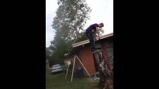another backflip off tree with music
