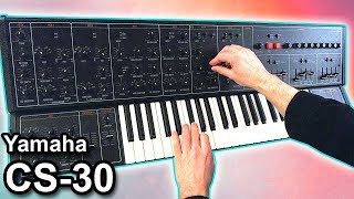 YAMAHA CS-30 - Ambient chillout music【SYNTH DEMO】