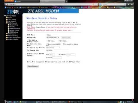 Como cambiar contraseña de la red WI-FI del modem ZTE