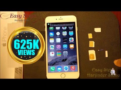How to use Standard SIM in iPhone 6 Plus   make Nano SIM   metroPCS   T-Mobile