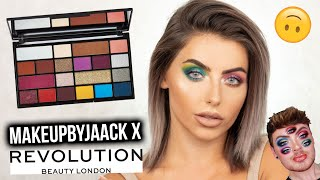 THIS COULD BE AWKWARD.. TESTING REVOLUTION X MAKEUPBYJAACK PALETTE! FIRST IMPRESSIONS + REVIEW!