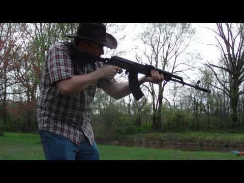 DIY Slide Fire Stock (bumpfire stock) for AK47 Firing