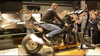 326BHP Kawasaki H2R spits flames on Dyno @ Motorbeurs U