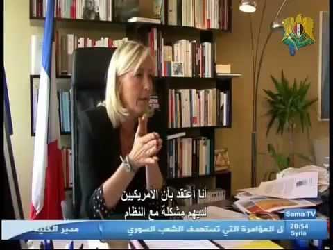 Entretien exclusif avec Marine Le Pen, à la TV syrienne privée (Sama)