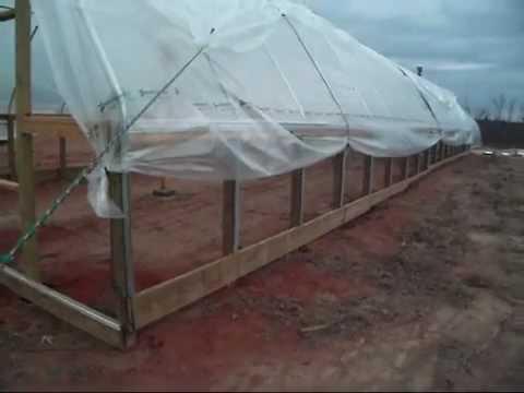 Diy Greenhouse Plastic Installation Youtube