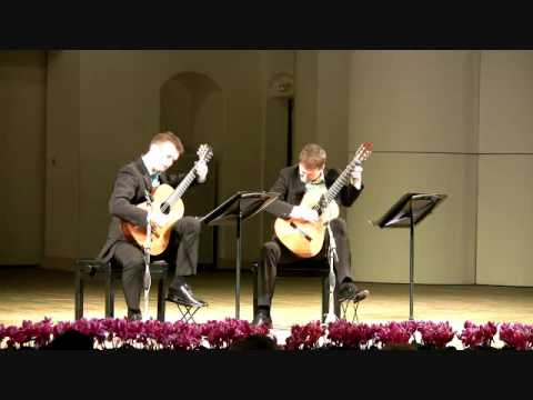 Duo Cologne plays Bach English Suite II, BWV 807 - I. Prelude