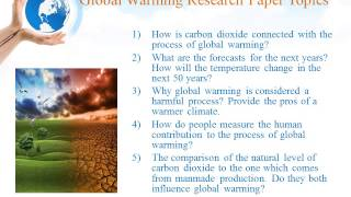 Global Warming Research Paper