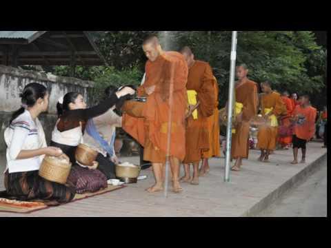 Daily Alms Round in Luang Prabang, Laos.