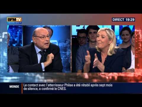 BFM POLITIQUE MARINE LE PEN  PARTIE 3 14/06/2015