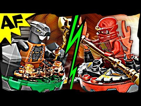 NRG KAI vs CHOKUN 9591 Lego Ninjago Weapon Pack Spinjitzu Battle & Animated Review