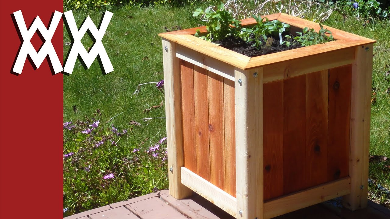 building wood planter boxes