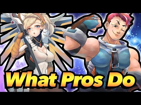 What PROS Do on Supports and Tanks - Overwatch