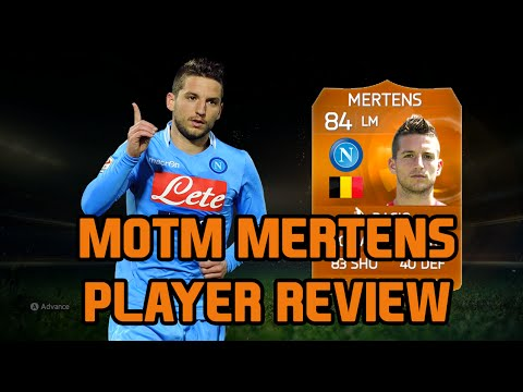 FIFA 15 Ultimate Team MOTM Dries Mertens 84 Player Review FUT 15 MOTM Mertens Review FIFA 15 UT