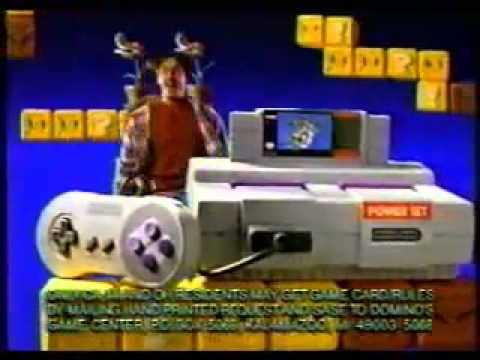 Super Nintendo Domino's Pizza (SNES) - Retro Video Game Commercial / Ad