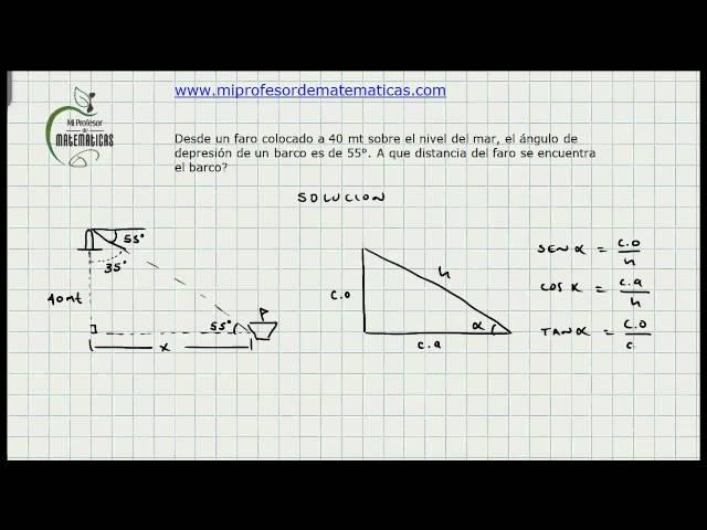 Ejercicio Solución de Triángulos - Trigonometria - Mi Profesor de Matematicas - Video 015