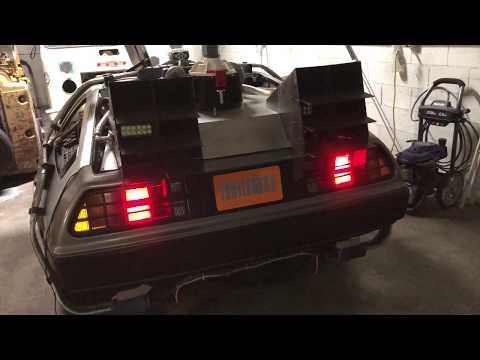 Back to the Future Delorean Time Machine - James Bond style License Plate Flipper!